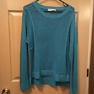 Michael Kors womens sweater/cover up teal L